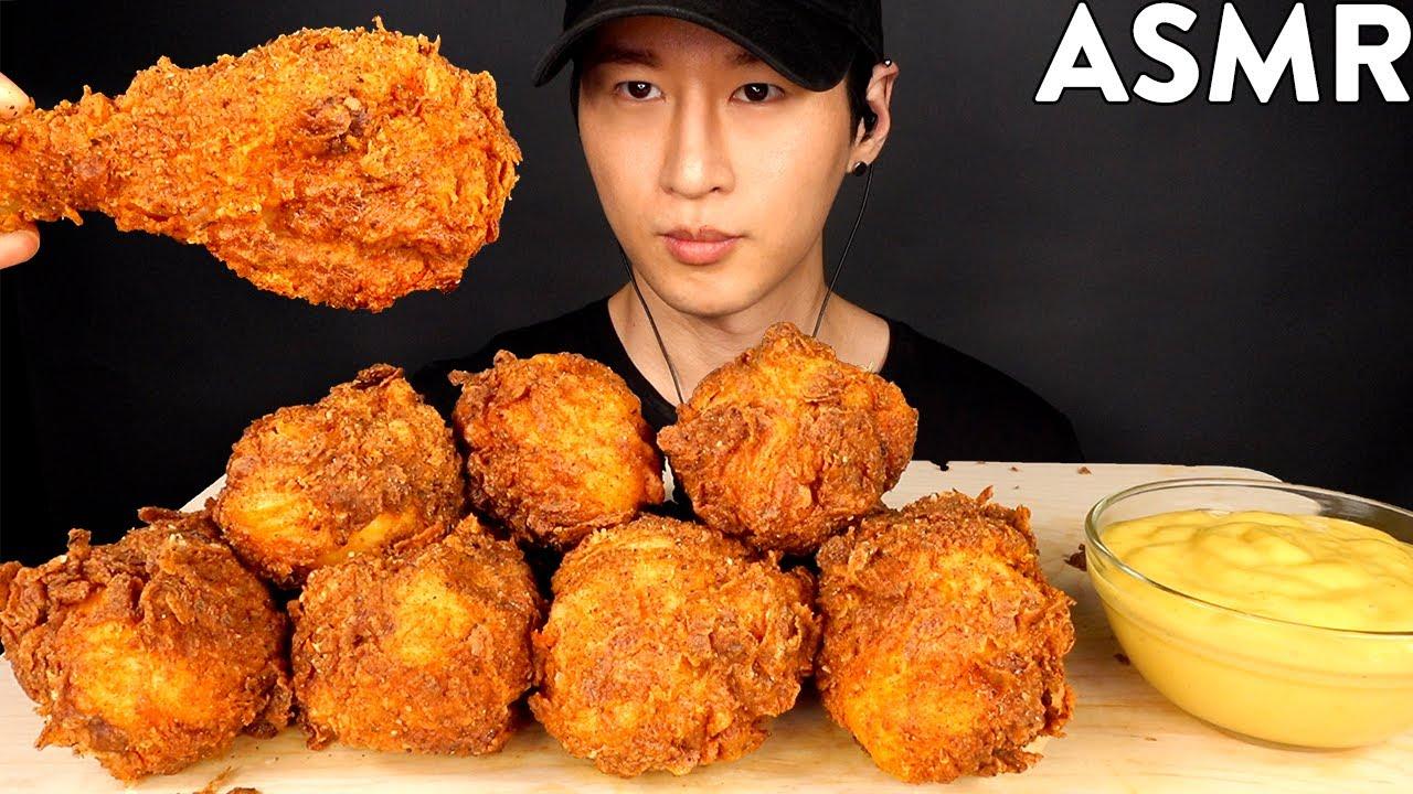 ASMR KFC SECRET RECIPE MUKBANG (No Talking) COOKING & EATING SOUNDS | Zach Choi ASMR