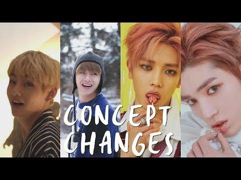 BEST CONCEPT CHANGES IN KPOP! (BTS, EXO, NCT, RED VELVET, & MORE!)