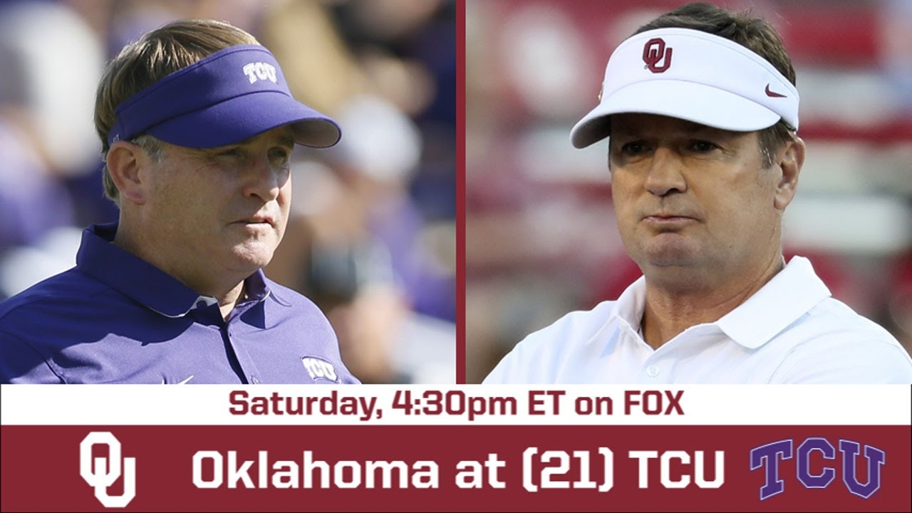 Oklahoma - TCU Game Preview| BREAKING THE HUDDLE WITH JOEL ...