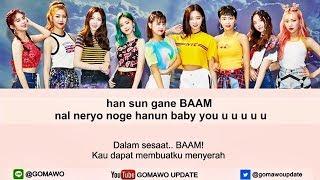 Easy Lyric MOMOLAND - BAAM by GOMAWO [Indo Sub]