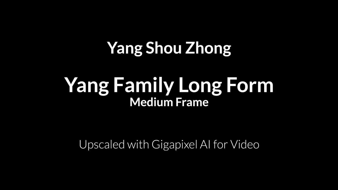Yang Shou Zhong - Yang Style Long Form