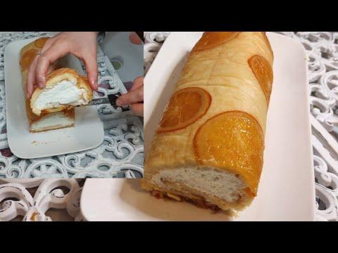 gâteau-roulé-à-l'orange-et-la-crème-aux-fromage-حلوى-رولي-بالبرتقال-وكريمة-الجبن-لذة-لا-تقاوم