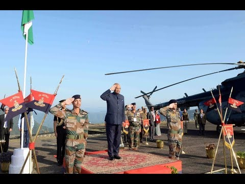 President Kovind inspects Guard of Honour in Aizawl, Mizoram