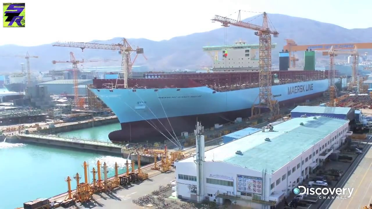 Making of the largest container ship Triple-E Construction (Time Lapse)