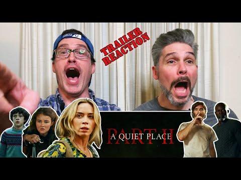 A Quiet Place Pt II Official Trailer REACTION!!!