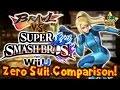 SMC  Brawl vs  Smash Bros  Wii U   Zero Suit Samus Moveset   Model Comparison