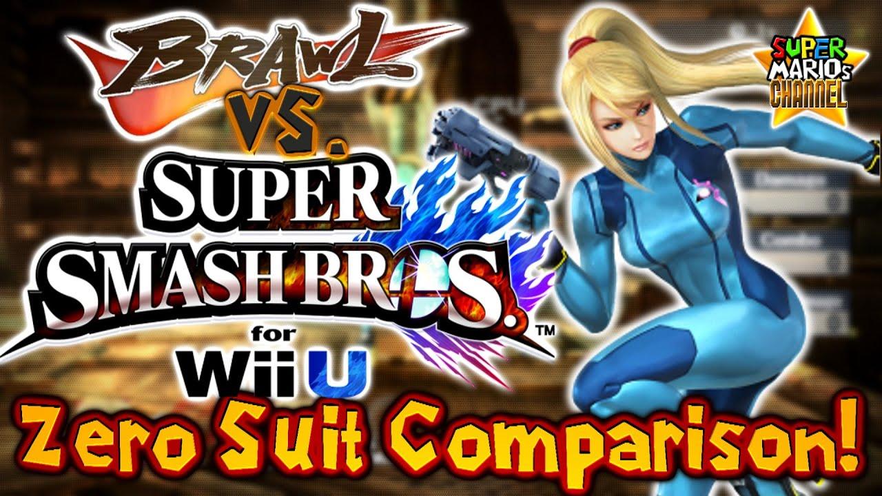 SMC: Brawl vs. Smash Bros. Wii U - Zero Suit Samus Moveset ...