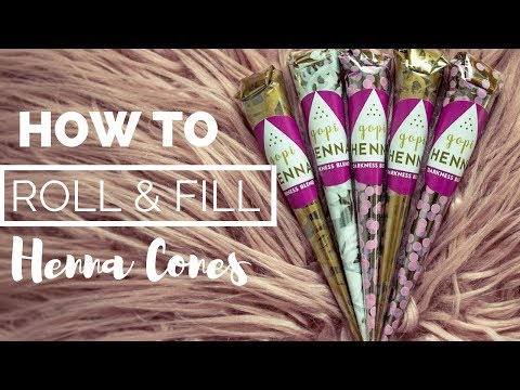 How to Roll and Fill Henna Cones ~ Updated 2018