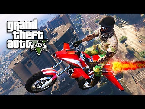 GTA 5 GUN RUNNING DLC - FLYING ROCKET BIKE!! (GTA 5 Gun Runn