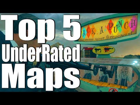TOP 5 UNDERRATED ZOMBIE MAPS.