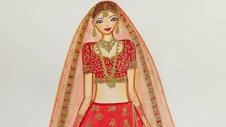 Designing of Bridal Lehnga