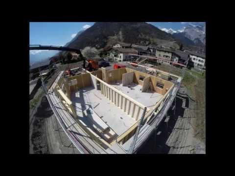 Cm Bois Une Maison En Bois Suisse A Chamoson Youtube