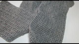 How to Crochet  Scarf Man easy  beginner tutorial  diy