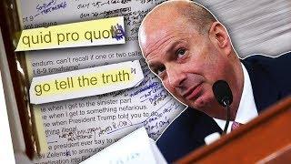 Sondland's Testimony - Proof of a Quid Pro Quo?