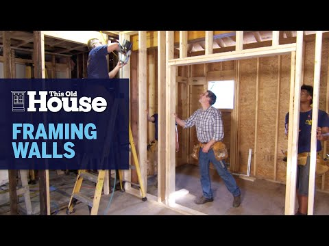 How to Frame a Wall   This Old House