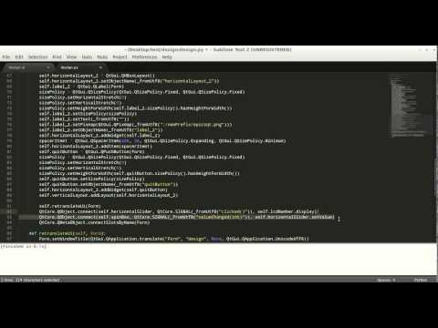 Converting Qt Designer to Python
