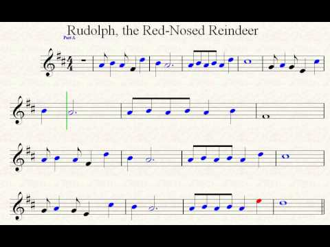 Rudolph, The Red -Nosed Reindeer Part A Practice Tempo.avi