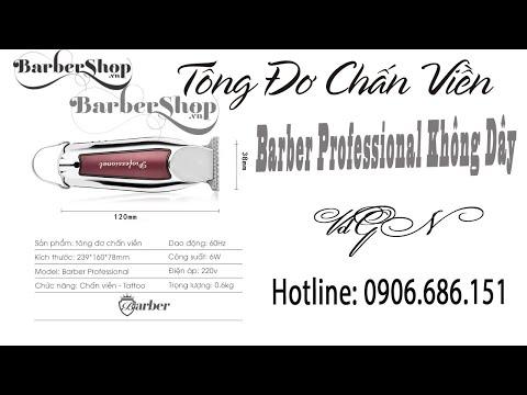 Tông đơ cạo viền giá rẻ Barber Professional Pin Sạc