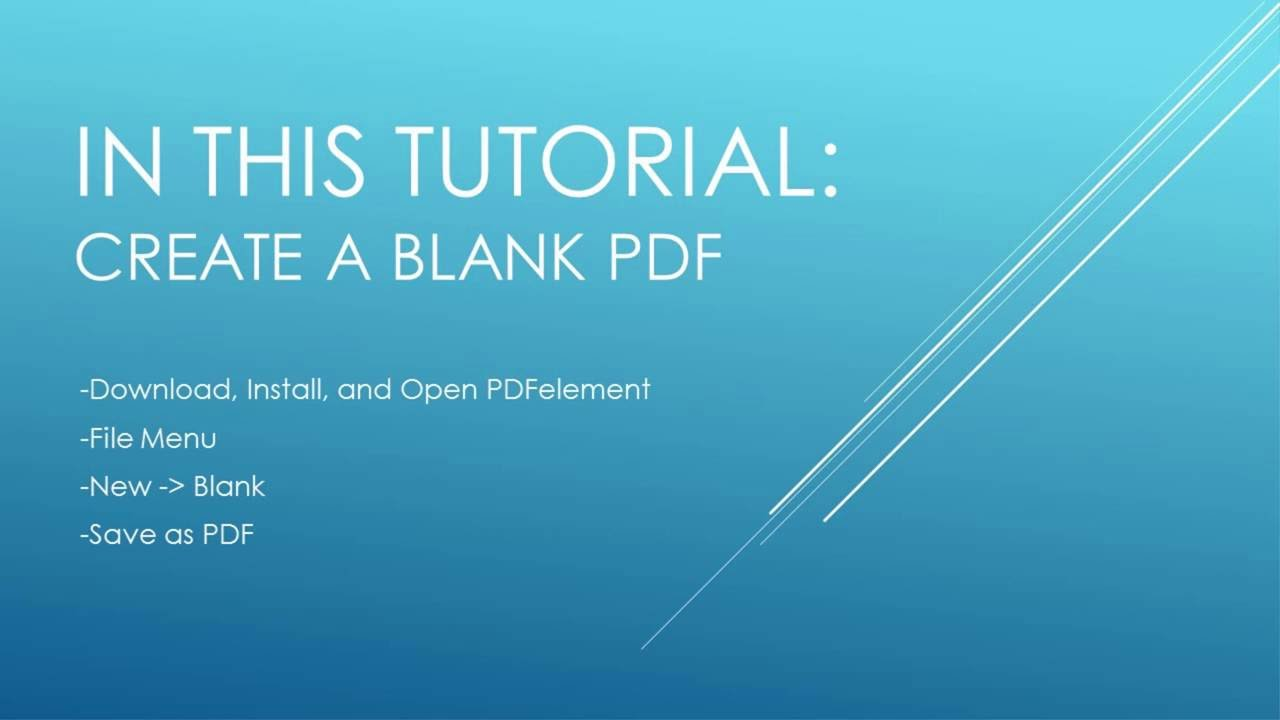 how to create blank pdf files youtube