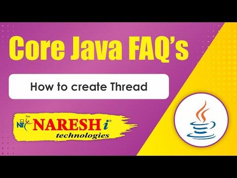 how-to-create-thread- -core-java-faqs-videos- -mr.srinivas