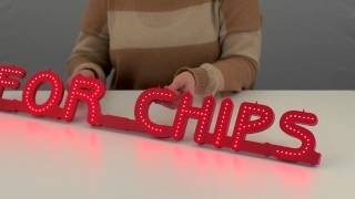 Create custom LED signs from www.Sign-Holders.co.uk