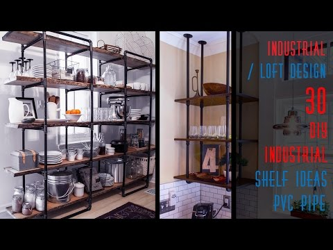 30 DIY Industrial Shelf Ideas Pipe
