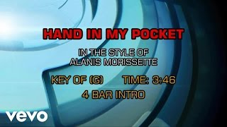 Alanis Morissette - Hand In My Pocket (Karaoke)