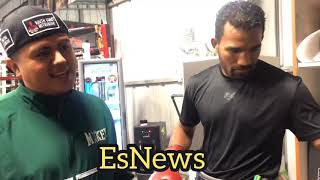 Mikey Garcia Ready To Sparr Esquiva Falco 190 pounds 22-0 15KOs For Spence Fight