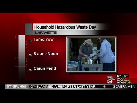 Lafayette Parish Household Hazardous Waste Day