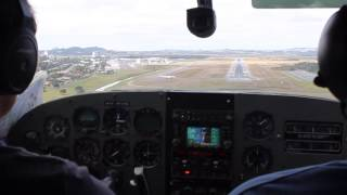 Landing at Coolangatta (OOL) in a Cessna 205
