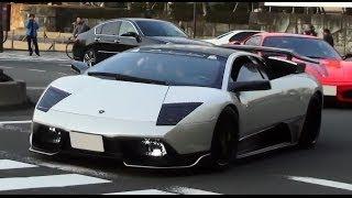 超爆音!! 都内でスーパーカーチーム「KHR」に遭遇! [HD] Amazing sound Supercar group in Japan! thumbnail