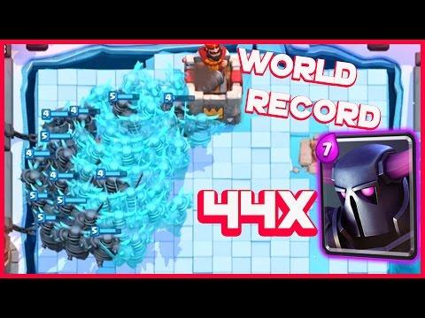 Clash Royale - 44 P.e.k.k.a.s! Pekka Clone Army World Record?!
