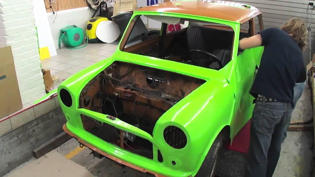 Mini Classic Vollverklebung Mini Classic Car Wrap Youtube