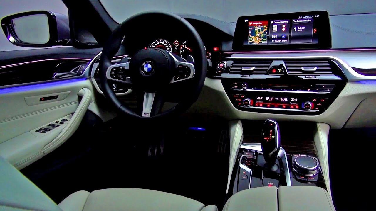 2017 Bmw 5 Series Interior 540i M Sport Sedan Youtube