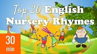 Top 20 English Nursery Rhymes | with Lyrics for Karaoke
