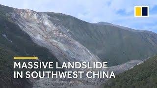 Massive landslide in southwest China