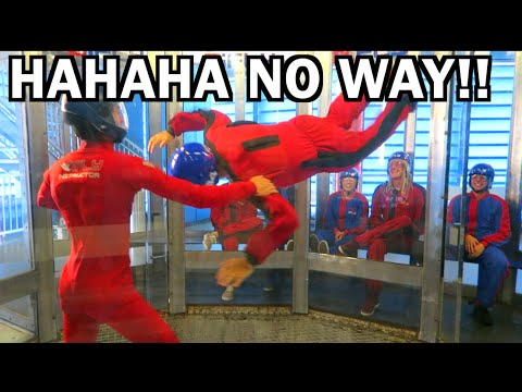 HILARIOUS INDOOR SKYDIVING FAIL!!