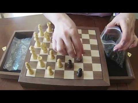 ASMR - Unboxing of a Chess Board and the Chess Pieces (No Talking)