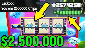 *UNLIMITED MONEY GLITCH* UNLIMITED $2,500,000 SLOT MACHINE WINS! (GTA 5 CASINO UNLIMITED MONEY)