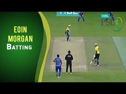 PSL 2017 Match 3: Karachi Kings v Peshwar Zalmi - Eoin Morgan Batting