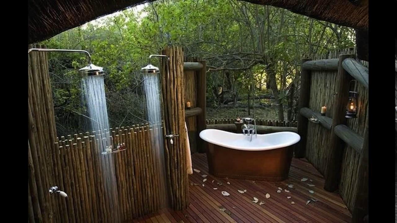 Indoor Outdoor Bathroom Designs Youtube