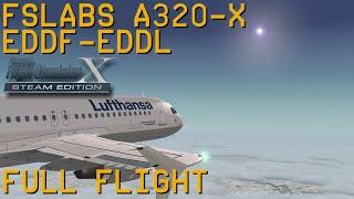Full Flight   FSLabs A320X   Frankfurt/Main to Dusseldorf   FSX SE