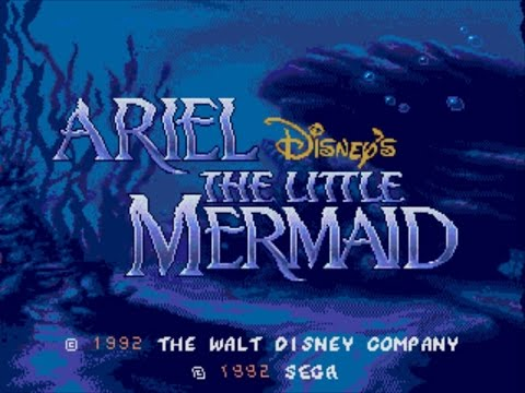 Ariel the little mermaid, Megadrive