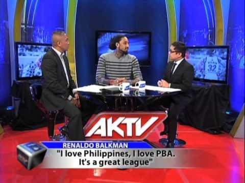 Renaldo Balkman and Arwind Santos appear together on AKTV Center