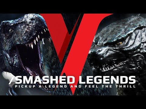 T-Rex VS Godzilla - SMASHED LEGENDS  ✔