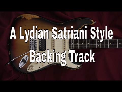 Satriani Style Backing Track A Lydian  Free  Download