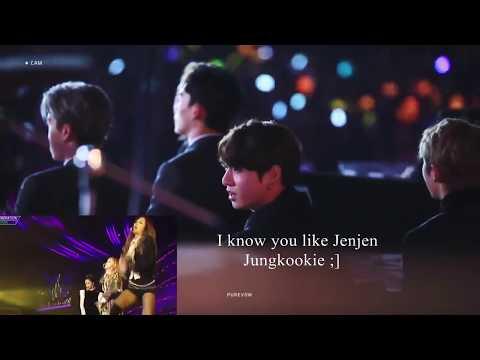 Jungkook BTS All reaction to Jennie Blackpink