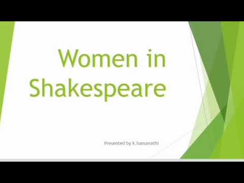 Women in Shakespeare in Tamil