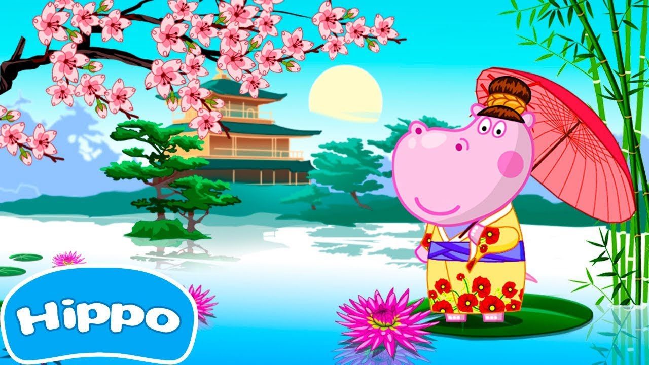 Hippo 🌼 Japanese party 🌼 Sushi cooking 🌼 Cartoon game for kids ...