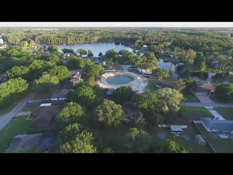 Drone Footage of Land O Lakes Sinkhole and Surrounding Area